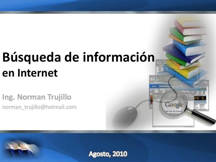 Búsqueda de Información by Universidad Nacional de Ingeniería, UNI, Nicaragua via slideshare