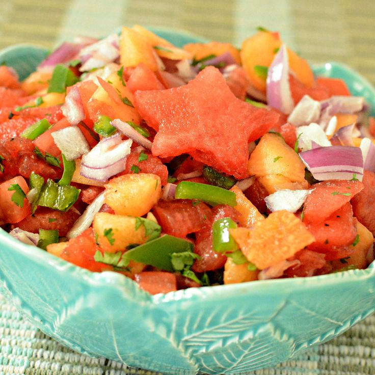 Watermelon Tomato Salsa #salsa #watermelon A delicious, refreshing and colorful summertime salsa. This can easily be doubled because it goes quick.