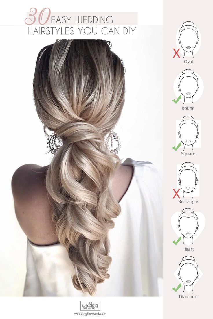 Easy Wedding Hairstyles You Can Diy Wedding Forward In 2020 Wedding Hair Front Hair Styles Bridal Makeup Natural