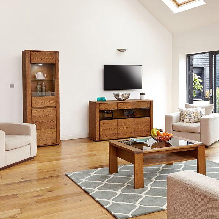 Great Olten Large Oil Oak Glazed Sideboard
