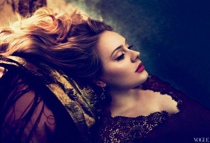 Adele in Vogue. Amazing shot by Mert Alas and Marcus Piggot. The processing is exquisite.
