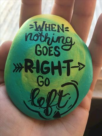 35 Awesome Painted Rocks Quotes Design Ideas – Loretta