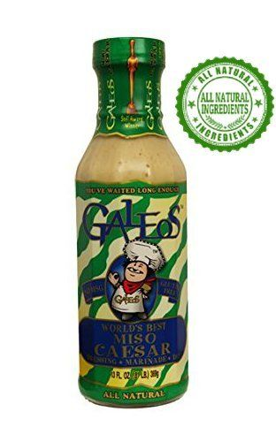 Galeos Award Winning All Natural Miso Dressing Miso Caesar, 13 Oz (Pack of 10) (Caesar) -- Read more by clicking on the image  at Dinner Ingredients board