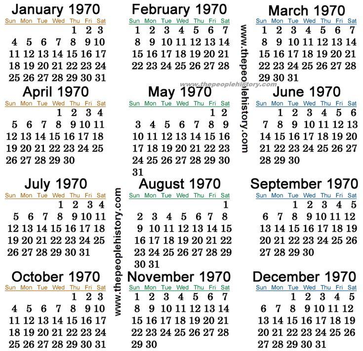 1970 Calendar Party 1947 Calendar Shit Happens