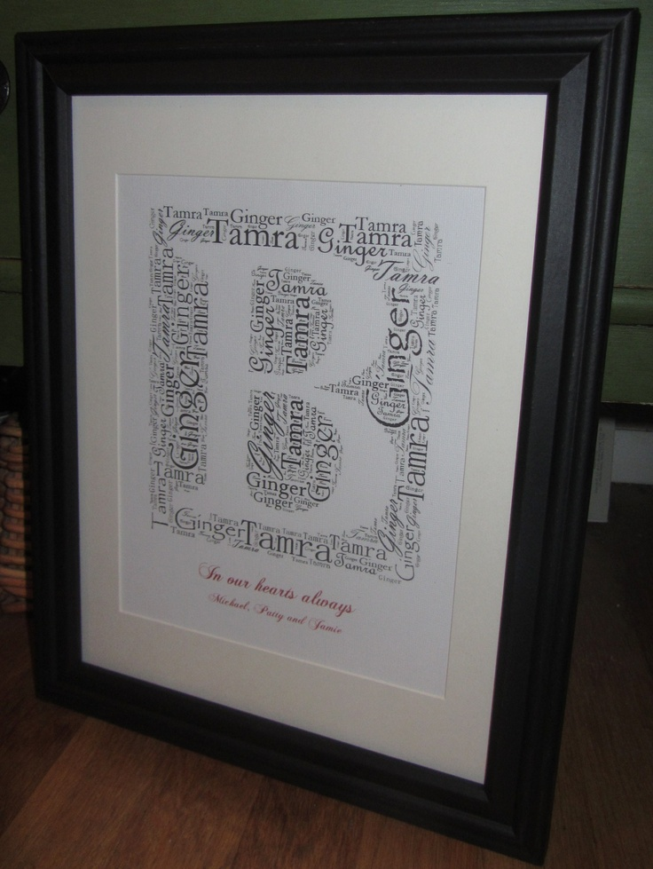 Added words to bottom of monogram wrap- great for birth announcements or weddings!