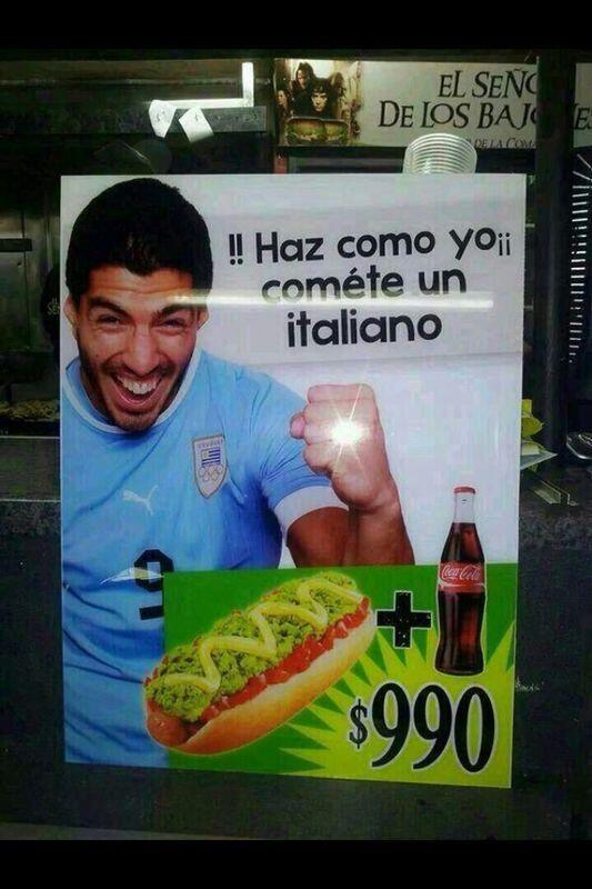 [Meme]: típico chileno, Luis Suárez te invita a comer completos