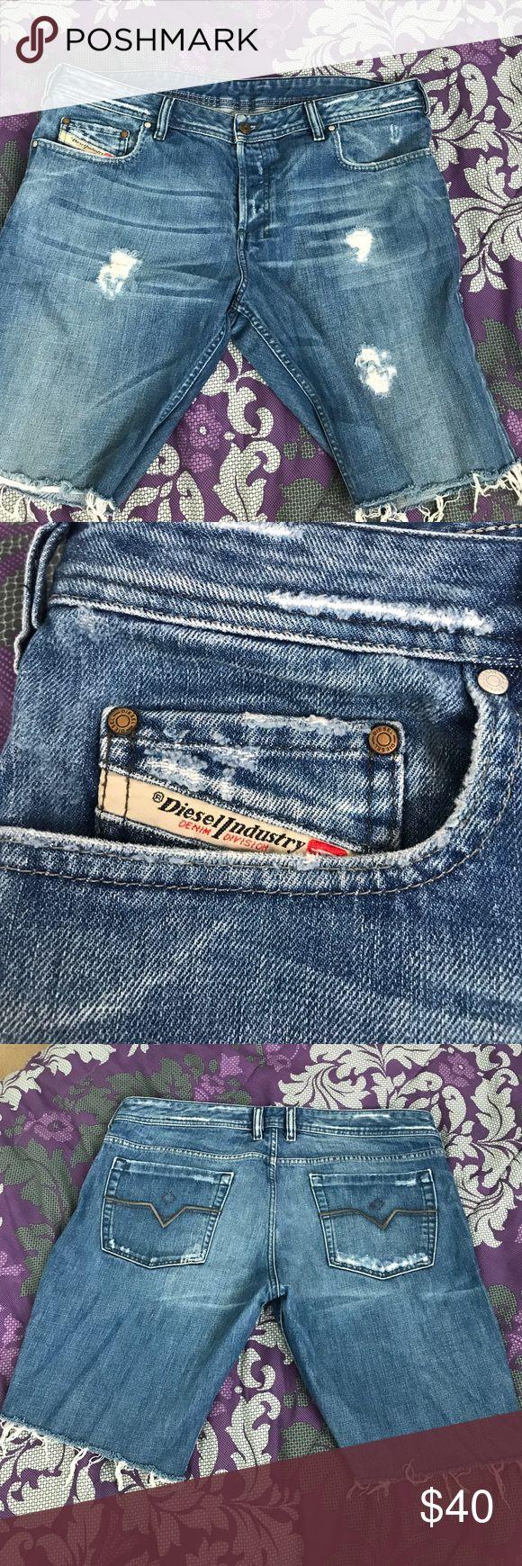 Diesel jean shorts Distressed Diesel Jean shorts Diesel Shorts Jean Shorts