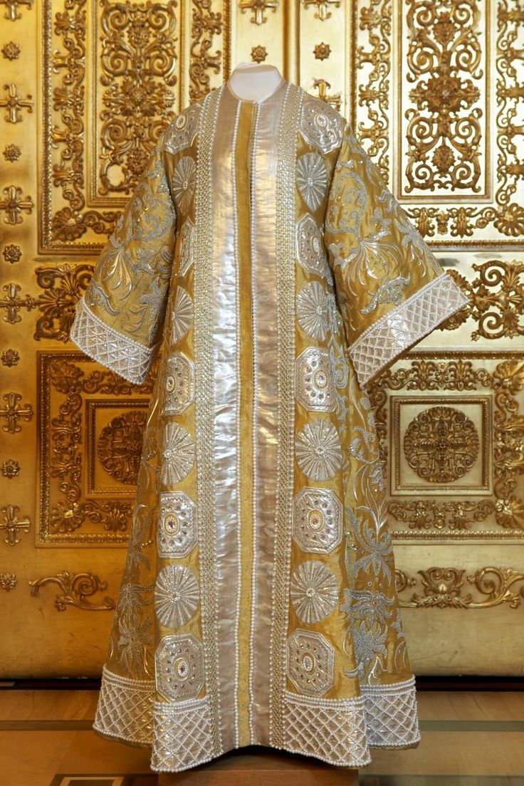 Costume dress worn by Empress Alexandra Fyodorevna of Russia at the Winter Palace costume ball in 1903.