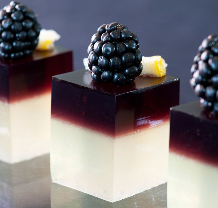 Cocktail Gels (or fancy Jell-O shots!) - Unlike the traditional college jelly shots, which are usually made with fruit flavored gelatin and intensely spiked with vodka, the gelatin cocktails of molecular mixologists are made with perfectly crafted cocktails, unflavored gelatin and impressive garnishes and presentation.