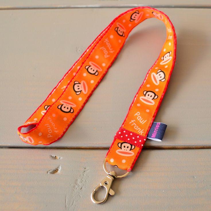 Keycord Paul Frank oranje met rode accenten | Welkom op Mirries.nl