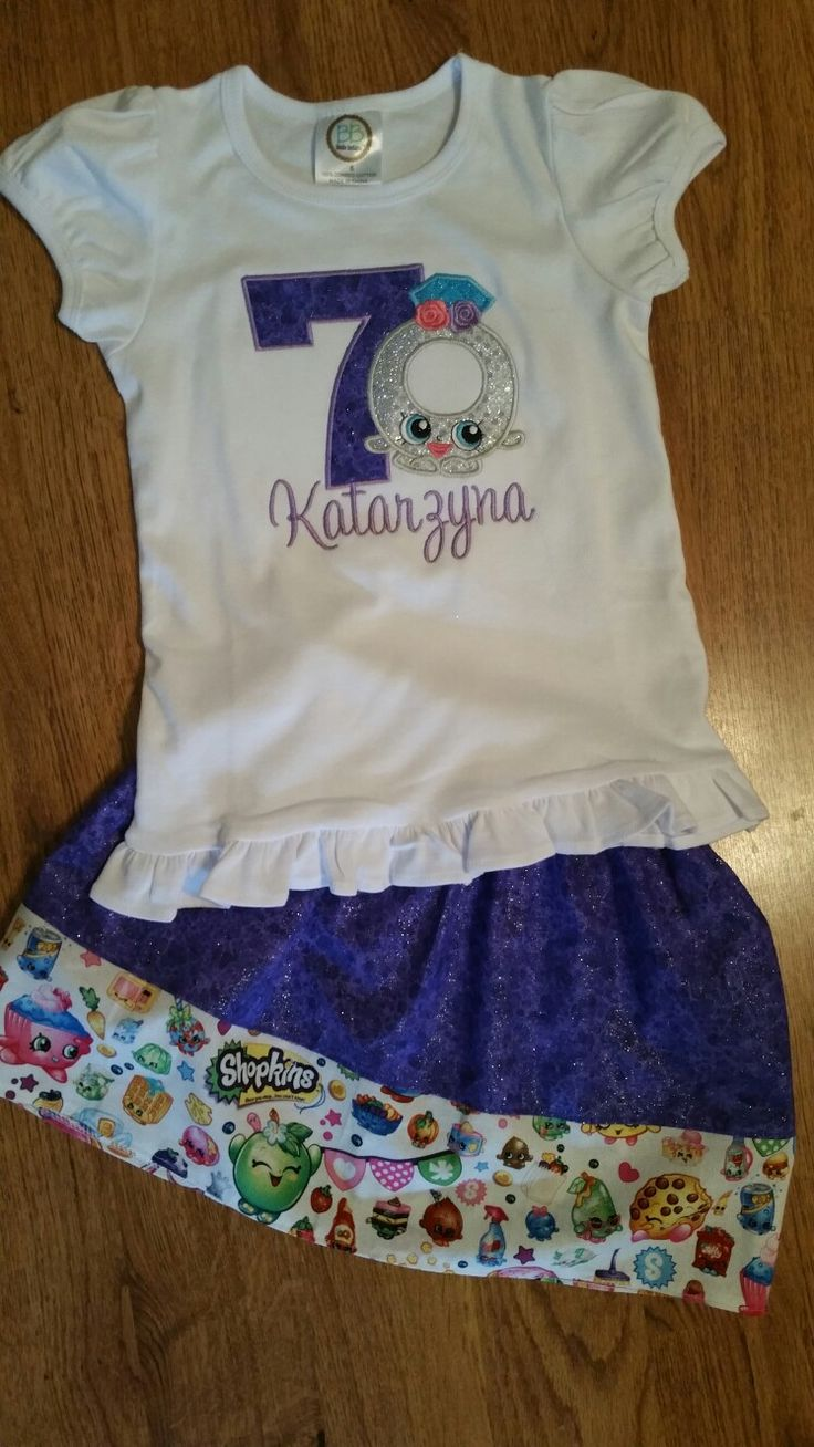 Shopkins ring birthday outfit