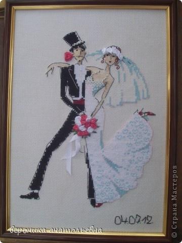Декор предметов, Картина, панно, рисунок Вышивка крестом: Свадебный заказ Свадьба. Фото 1