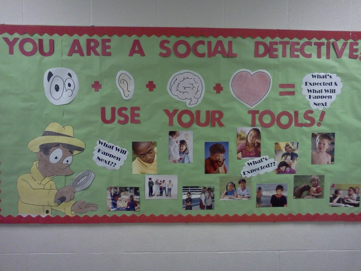Bulletin board idea to go with Social Thinking curriculum. Was told to put it up!