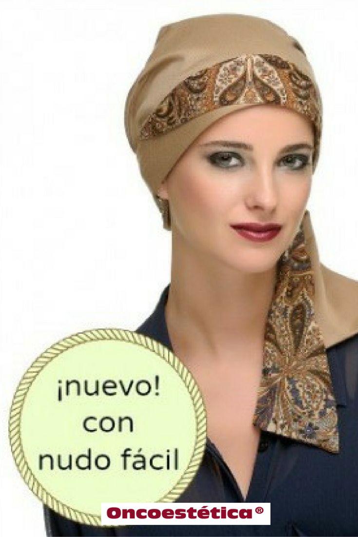 ROMA - Pañuelo estampado marrón - Colección Carebell #oncoestetica #esteticaoncologica #vertebienimporta
