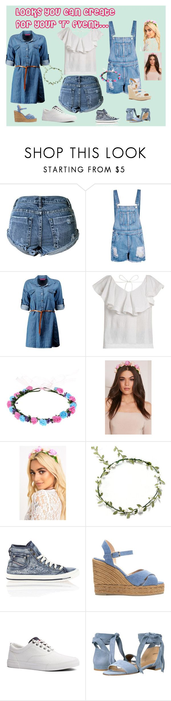 """""""Fun Food and Fireworks!"""" by ritty18 on Polyvore featuring Boohoo, CECILIE Copenhagen, Diesel, Castañer, Tommy Hilfiger, Stuart Weitzman and Lucky Brand"""