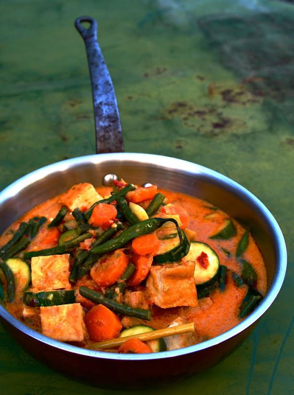 Vegetables and Tofu Curry, Javanese Style (Sayur Lodeh)   ~Elra's Cooking~