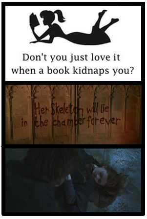 Don't you love it when a book kidnaps you?--Chamber of Secrets, Harry Potter Humor