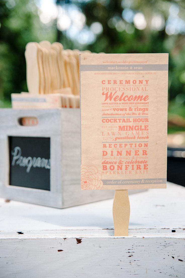 The 25 best Diy wedding program fans ideas on Pinterest