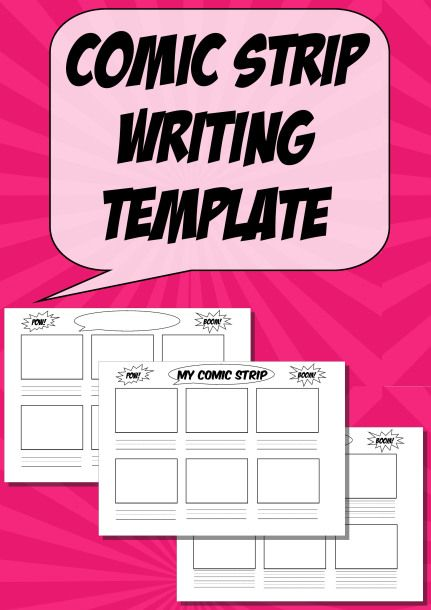 Free Comic Strip Writing Templates or Worksheets
