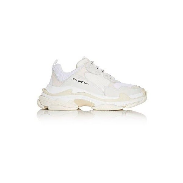 BALENCIAGA Men'S Triple S Sneakers ($795) ❤ liked on Polyvore featuring men's fashion, men's shoes, men's sneakers, mens shoes, balenciaga mens shoes, mens sneakers and balenciaga mens sneakers