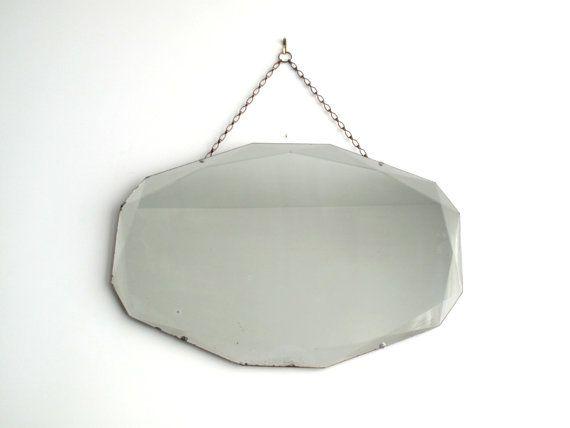 Vintage Frameless Mirror Art Decor Wall Mirror Antique