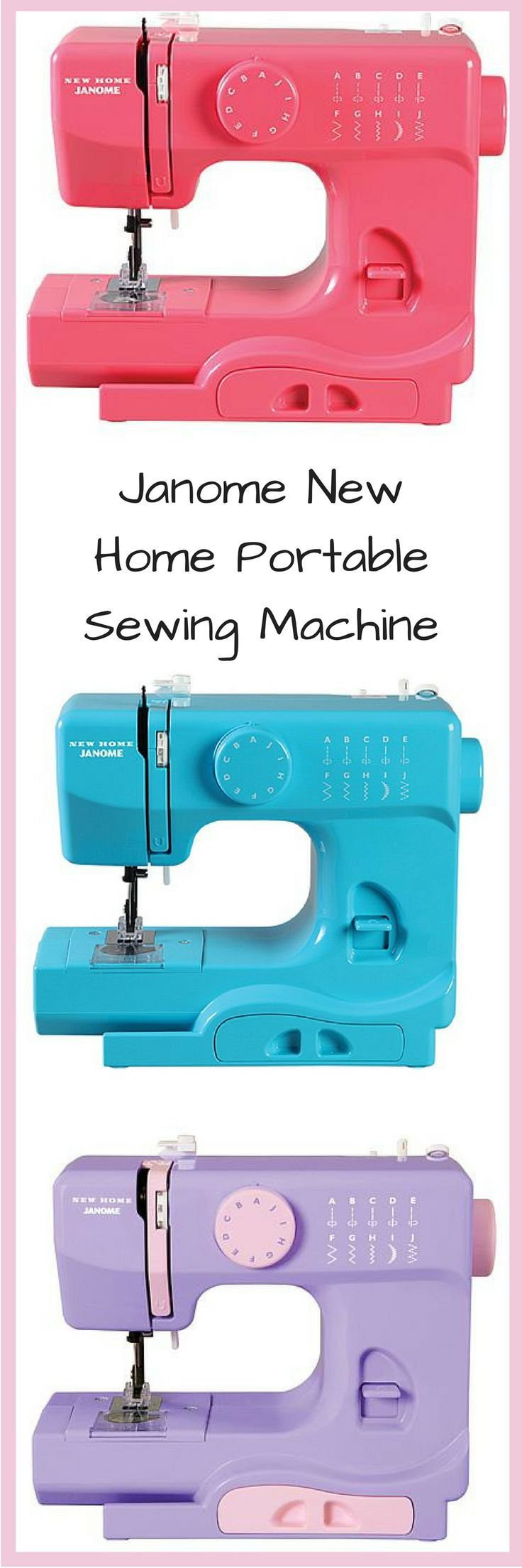 I need this sewing machine in every color.  So handy to have a portable sewing machine Janome New Home Portable Sewing Machine afflink
