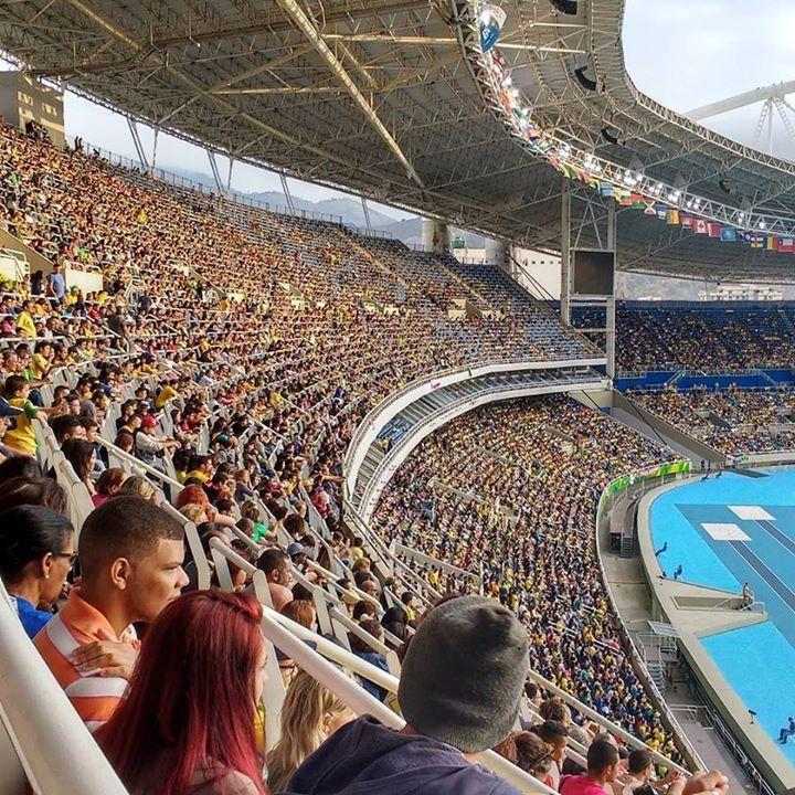 Brasil Rio de Janeiro Olimpíadas estádio Engenhão. Futebol feminino: Brasil 3 x…