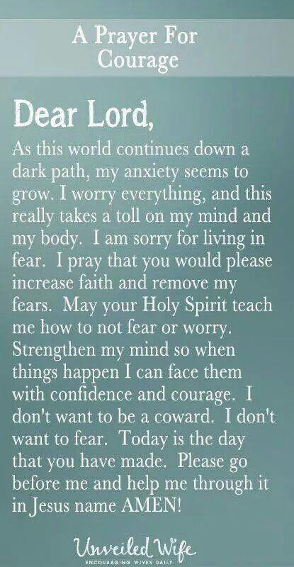 Prayer of courageous