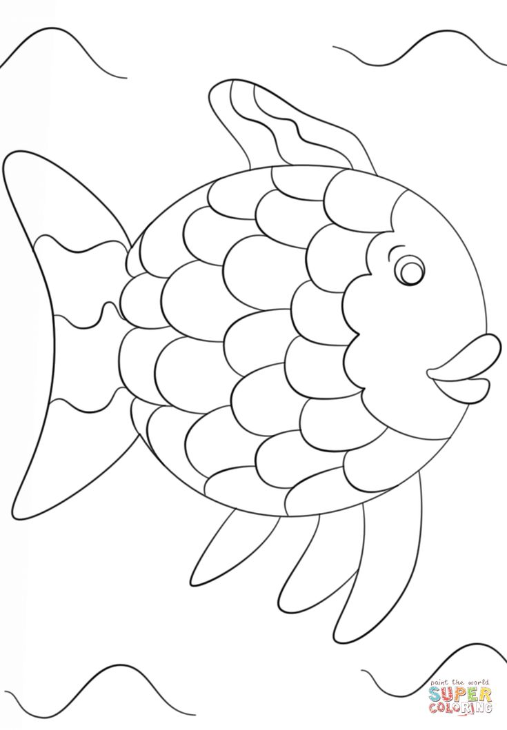 Rainbow Fish Template coloring page | Free Printable ...