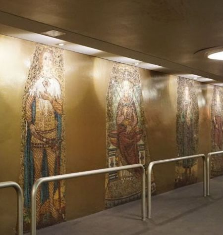 Mosaics in Richard-Wagner-Platz metro station, Berlin