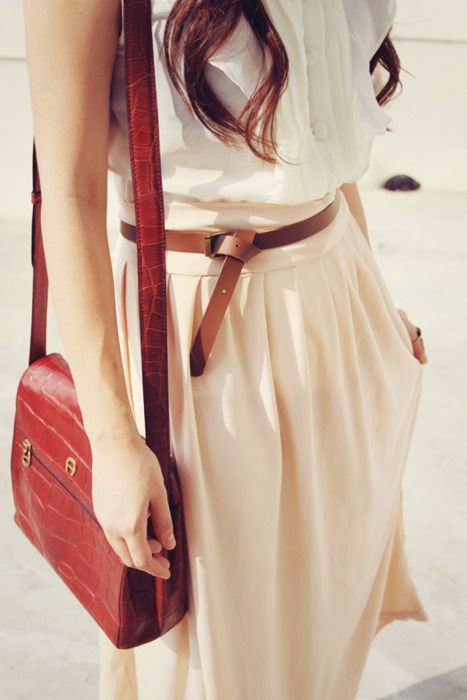Awesome outfits. Cool belt knot