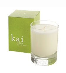 Kai Fragrance - Kai is another brand I love. The Skylight Candle is a blend of soy, palm and coconut wax, and it smells like gardenias (my favorite scent). When I burn this candle it makes me feel like I am on a tropical island. Ahhhh…