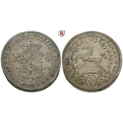 Braunschweig, Braunschweig-Calenberg-Hannover, Ernst August, 2/3 Taler 1684, ss+: Ernst August 1679-1698. 2/3 Taler 1684 Hannover… #coins