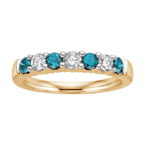 Fred Meyer Jewelers | 3/4 ct. tw. Enhanced Blue and White Diamond Ring
