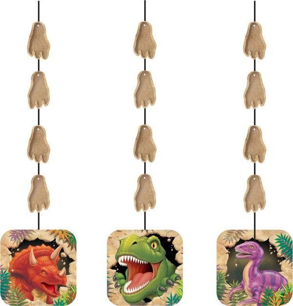 3 ghirlande da appendere per compleanno con Dinosauri su VegaooParty, negozio di articoli per feste. Scopri il maggior catalogo di addobbi e decorazioni per feste del web,  sempre al miglior prezzo!