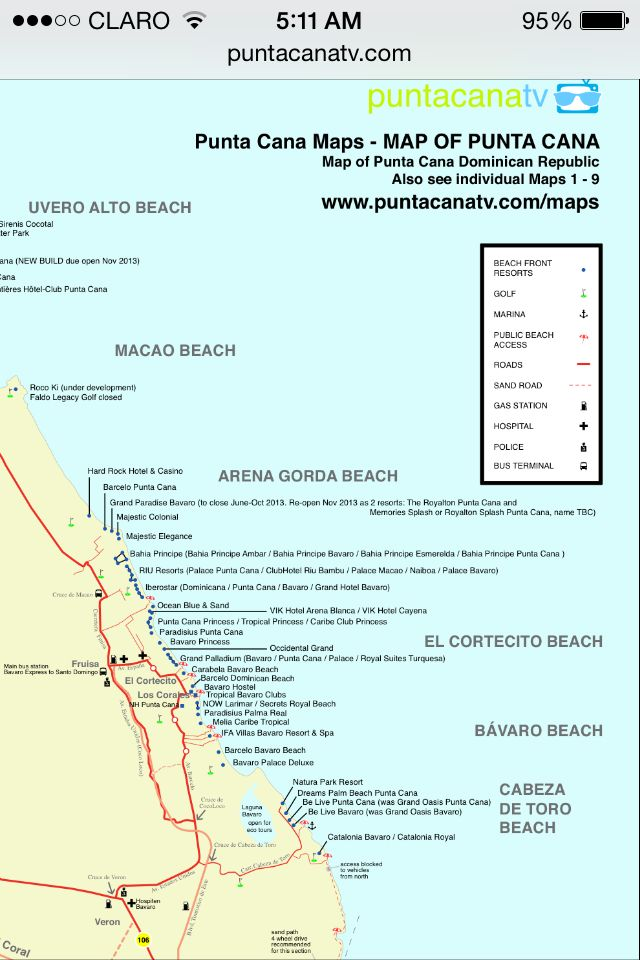 Map Of Hard Rock Punta Cana