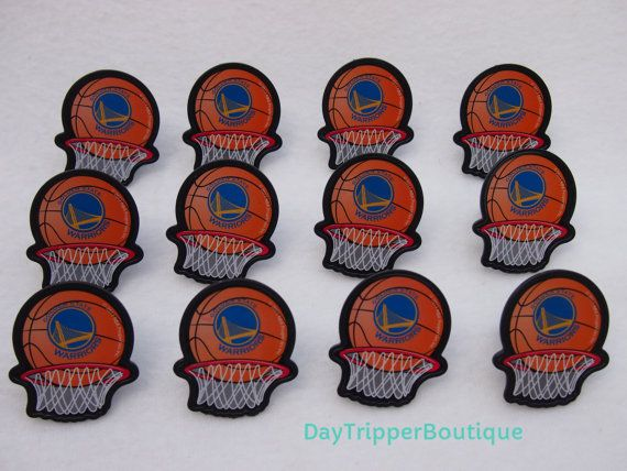 24 Golden State Warriors Basketball Cupcake by DayTripperBoutique
