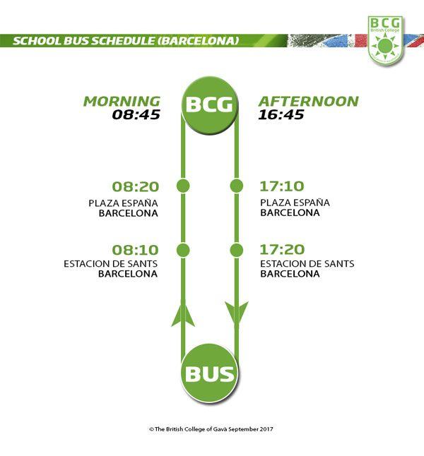 Barcelona School bus schedule