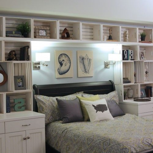 77 Best Guest Bedroom, Over The Bed Storage Images On