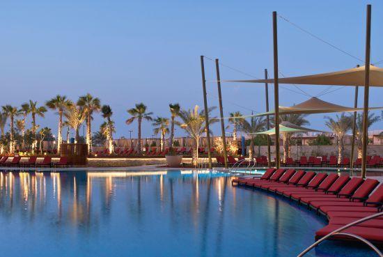 Lovely pool area at the Westin Abu Dhabi golf resort