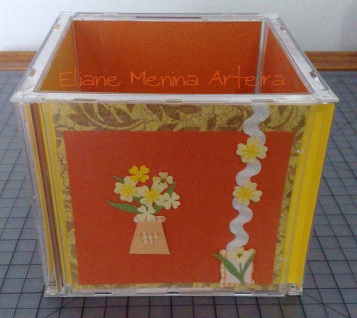 Duti Duti: PAP caixa feita com capas de cd!!