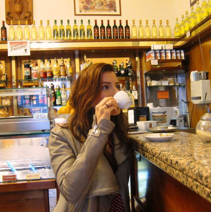 How to drink Coffee like an Italian and avoid the looks tourists get lol. Even ordering a coffee has a method there. I'm in for a treat. <3