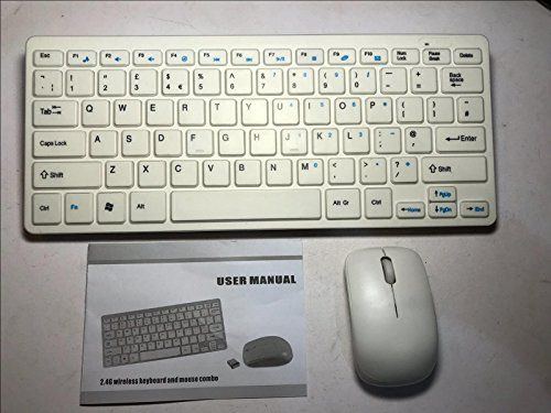 "From 14.95 White Wireless Mini Keyboard & Mouse For Samsung Ue22h5610 Smart 22"" Led Tv"