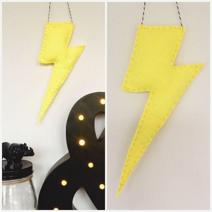 Jumbo Yellow Lightning Bolt Wall Hanging Batman Nursery Decor Kids Room Bunting Boys Girls Superhero by CactusCo on Etsy https://www.etsy.com/listing/236324481/jumbo-yellow-lightning-bolt-wall-hanging