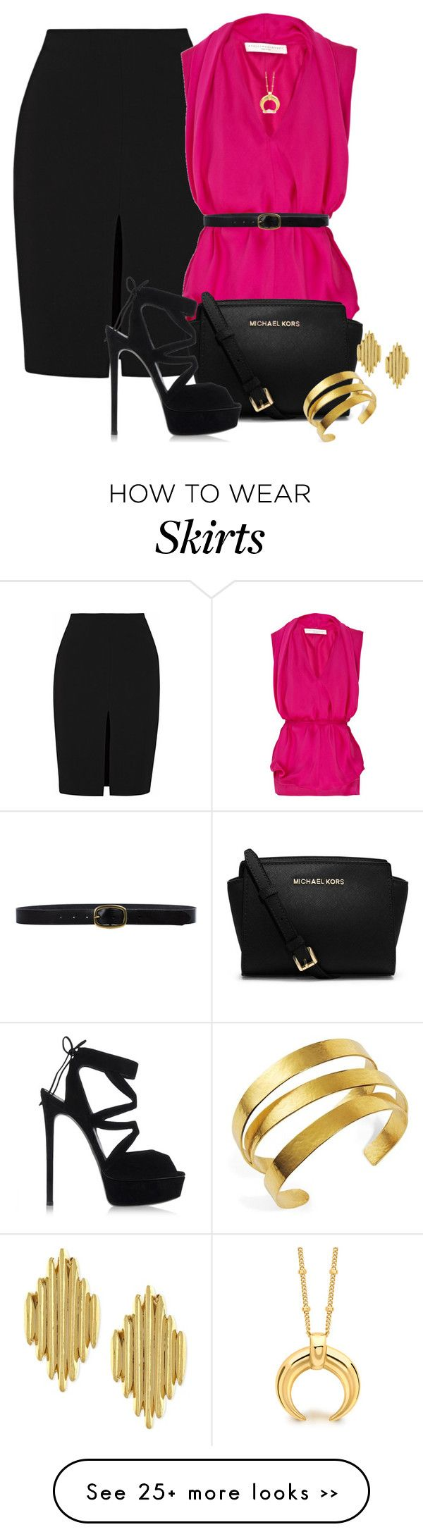 """VERSACE SKIRT"" by arjanadesign on Polyvore"