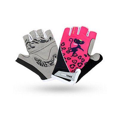 Fingerless Women's Cycling Gloves Half Finger GEL Pad Bike Bicycle Gloves Pink