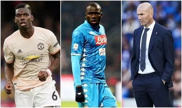 Zidane Looks To A Double Deal Worth 107million For Manchester United In 2020 Manchester United Real Madrid Transfer Manchester