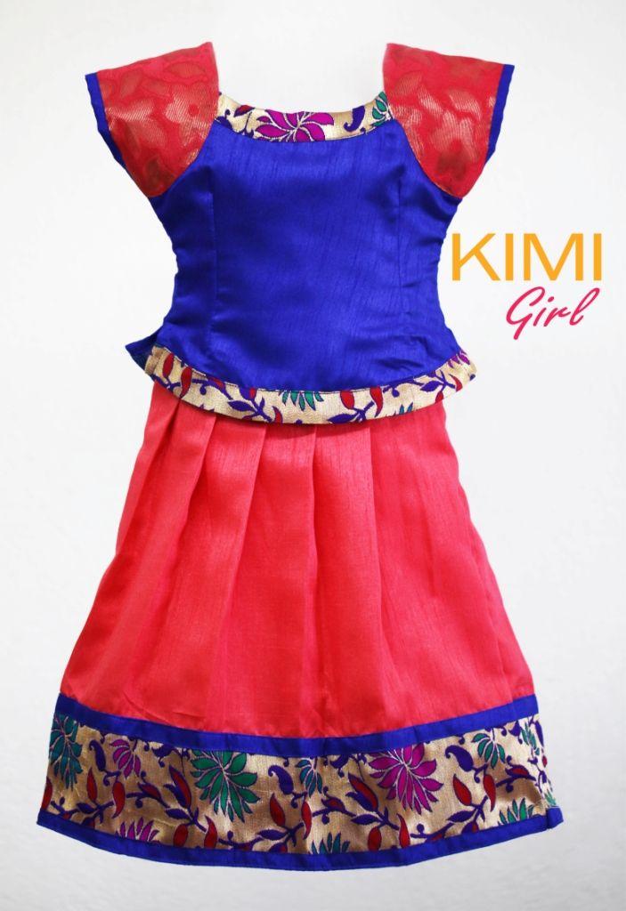 langa jakettu ...traditional south indian dress for little girls...soo cute