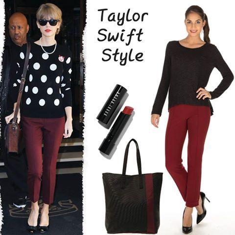 Limon Company bordo pantolonunuz ile Taylor Swift'in şık ve rahat tarzını kombinlerinize yansıtabilirsiniz! www.boyner.com.tr #love #fashion #style