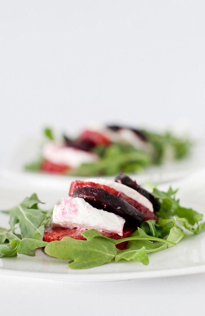 Roasted Beet, Blood Orange, Goat Cheese & Arugula Salad